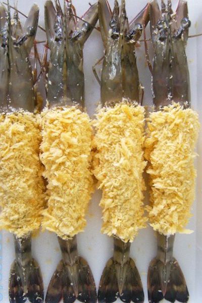 Breaded Body Peeled HOSO Black Tiger Shrimp